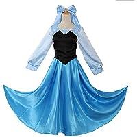 JJAIR Princesa del Traje de Vestir para Las niñas, Vestido Fiesta de cumpleaños de Cosplay con el Tocado,S