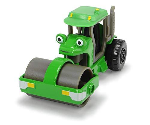 Dickie Toys 203131003 Bob der Baumeister Rollo Spielzeugauto mit Freilauf und beweglichen Teilen, 1:64, Grün, 7 cm