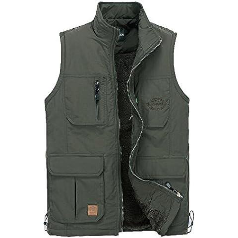 GDS/Uomo Plus pile waistcoat. Gilet tasca photography.