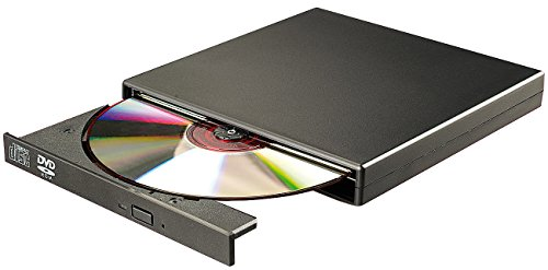 Xystec DVD Laufwerk extern: Externes DVD- & CD-ROM-Laufwerk 8/24x, Super-Slim, USB 2.0 (USB DVD Player)