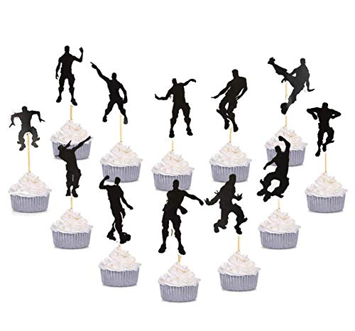 ma Cupcake Toppers Party Favor Dance Floss Happy Birthday Kuchen Dekoration Spiel Partei Liefert ()