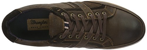 Wrangler Ross Derby, Baskets Basses Homme Marron - Braun (28 Brown)