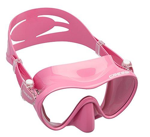 Cressi Maske F1 Junior Frameless Máscara de Buceo, niña, Rosa