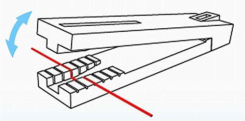 Master Tools 09921 - Modellbauzubehör Handrail Jig, Biegewerkzeug für Geländerstangen, grau