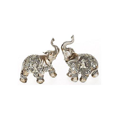 Plata con figura de elefante Trunk Up–Pequeño