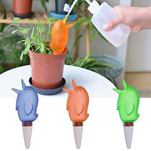 Pflanzenbewässerungsgeräte Globes Automatische Little Bird Tropfenbewässerungssystem Urlaub Bewässerung Gießpfosten im Freien im Innenbereich - Orange Globe Bird
