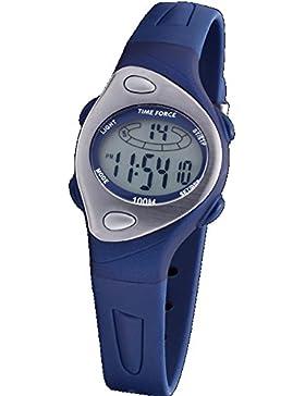 Time Force TF-3184B03 Armbanduhr, wasserdicht, Zeitmesser, Alarm-Funktion, Beleuchtung, Kautschuk-Material, Blau