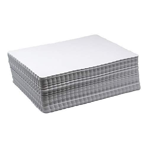 Scalloped Papier Tischsets Bulk-Fall von 1000Weiß geprägt Platzdeckchen-Einweg Kommerzielle Matten für Health Care. Restaurants, Hotel und Veranstaltungen 10