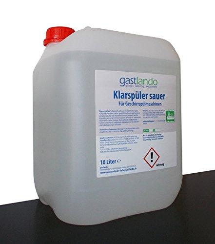 Klarspüler Sauer 10 Liter Für Spülmaschinen Gastronomie Gastlando