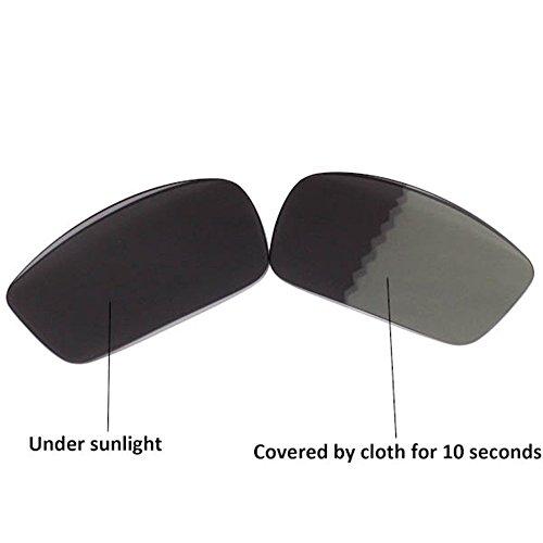 Walleva Ersatzgläser für Oakley Square Wire Sonnenbrille - Mehrfache Optionen (Übergang/Photochromisch - Polarisiert)