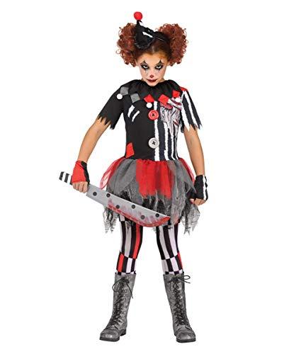 Böse Clown Unheimlich Kostüm Kind - Horror-Shop Unheimlicher Zirkusclown Kinder Kostüm für Karneval und Halloween M