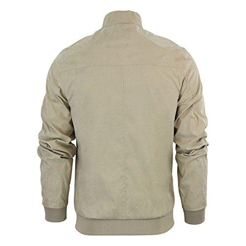 Manteau Veste pour homme Bomber Harrington Brave Soul Manning texturé Cordon lumière d'été Beige - Stone