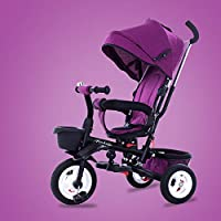 QXMEI 4 In 1 Childrens Folding Tricycle 1 To 6 Years 360° Swivelling Saddle Children