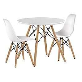 Buschman Mobilier pour Enfants | Ensemble de Table et Chaises pour Les Petits | 2 Chaises Plastiques et 1 Table Ronde…