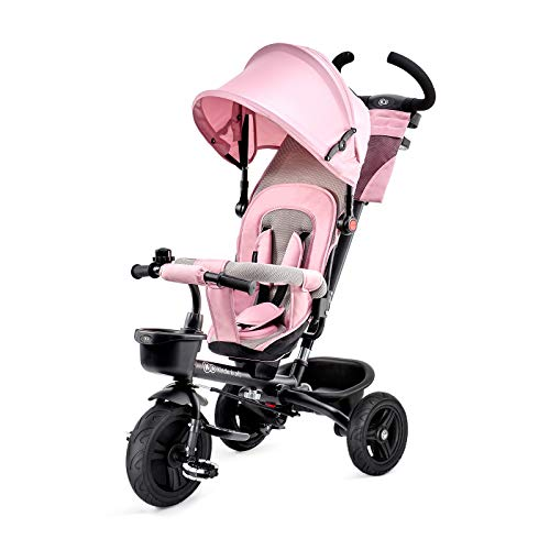 Kinderkraft AVEO Tricycle Enfant Évolutif, 6 en 1, Canne Télescopique Rose