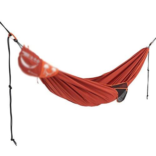 Balançoire de camping de double hamac de polyester rouge 110 * 69 pouces soutenant 220kg
