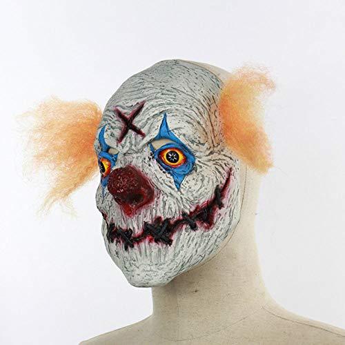 Edelehu Horror Schlitz Clown Halloween Maske Beängstigend Gruselige Horror Cosplay Kostüm Bandana Latex Beängstigenden Kopf Zombie-Maske