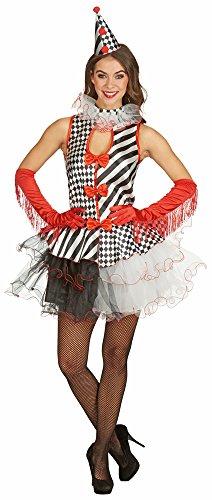 Clown Dame Columbine Zirkus Kostüm Gr. 36 38 - Tolles Clownette Kostüm zum Thema Manege oder Zirkus für Karneval und - Thema Zirkus Kostüm Damen