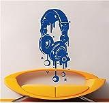 Geiqianjiumai Casque d'origine Motif Sticker Artiste Home Decor De Style De Mode Style Sticker Mural Room Decor 82.8X36CM...
