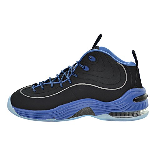 Nike Air Penny Ii, Chaussures de Sport-Basketball Homme, Taille Black/Varsity Blue/Metallic Silver