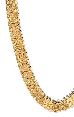 YouBella Golden Plated Long Mala for Women (Golden)(YBNK_5041)