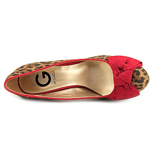 G By Guess Valso Femmes Toile Talons Compensés Natural Multi