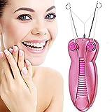 Hair Remover Rasierapparat Lady Epilierer Gesichts- Haarentfernung Kostüm Gesicht Haar Ramen Exquisit Schönheit Epilierer Ramen-Ausrüstung Trimmer (Pink)