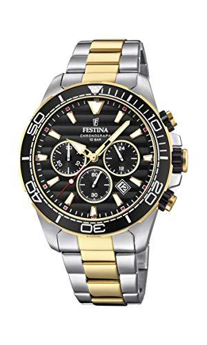 Festina Herren Chronograph Quarz Uhr mit Edelstahl Armband F20363/3
