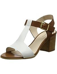 FIND Scarpe con Cinturino alla Caviglia Donna Marrone Brown 36 EU b1s