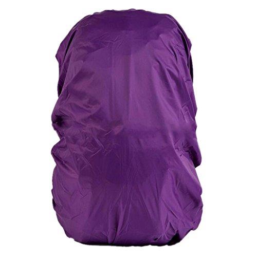 Imagen de funda cubierta de  protector de lluvia impermeable recorrido senderismo  polvo 30l 40l para acampada  púrpura