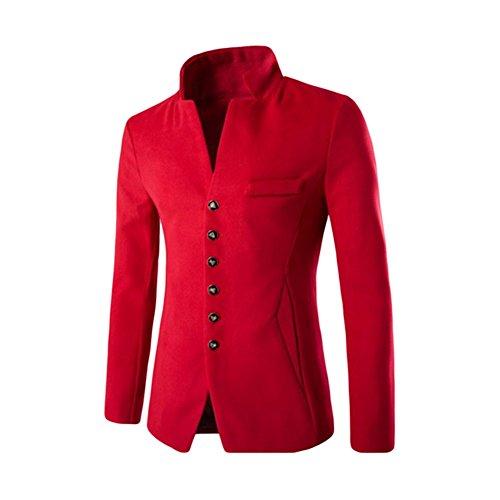 Meijunter Herren Einzigartig Tasche Entwurf Anzüge Einreihig Mantel (Kostüme Herren Einzigartige)