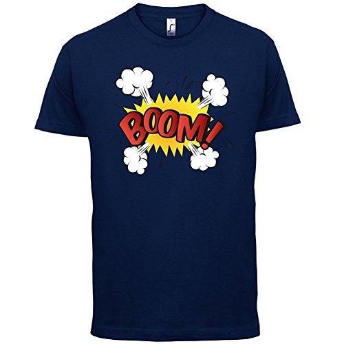 Superheld Boom - Herren T-Shirt - 13 Farben Navy
