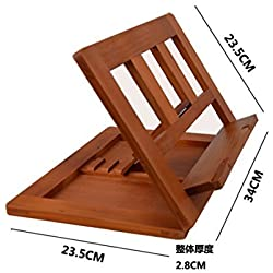 Halovie soporte para libro Tablet iPads Book Holder - Atril de lectura ajustable y plegable de madera, 34*23.5*2.8cm