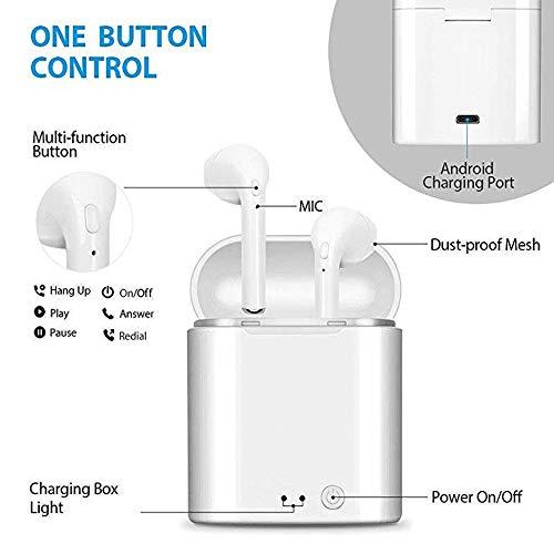 qibang2 Auricolare Bluetooth con 2 microfoni integrati ad Alta fedeltà e Custodia di Ricarica per Una Lunga Durata della Batteria. Compatibile con Tutti i dispositivi mobili e Bluetooth - 2