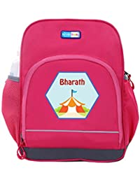 UniQBees Personalised School Bag With Name (Little Life Pre-School Backpack-Pink-Wigwam)