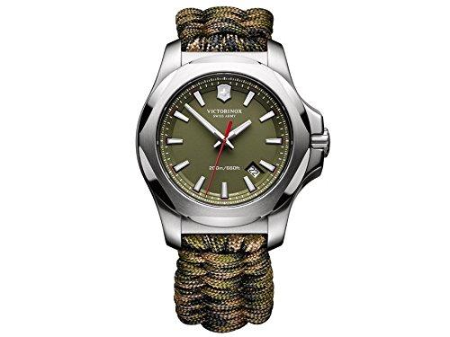 Victorinox Swiss Army Herren-Armbanduhr I.N.O.X. Analog Quarz Textil 241727.1 (Victorinox Inox Uhr)