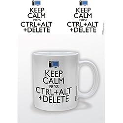Keep Calm Pyramid International - Taza (cerámica), diseño con Texto Press Ctrl + Alt + Delete