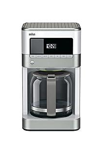 Braun KF6050WH Brewsense Drip Coffee Maker, 12-Cup, White