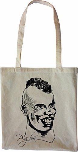 Mister Merchandise Bag Paul Pogba Borsa Di Stoffa, Colore: Nero Natura