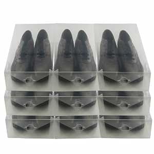 DynaSun 161729x PP368X XL Boîte Porte Chaussures, homme/femme, gain de place, transparent, 9places