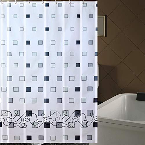 FDCC Erru Duschvorhang im Wasser und warme Dicke mit dem Test Der ildewproof Bad WC Wasserdicht Partition (Vorhänge Größe: 200 cm * 180 cm).