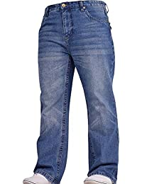 Spindle Mens Hardwearing Bootcut Wide Bottom Durable Cotton Fashion Denim Jeans All Waist and Leg Sizes
