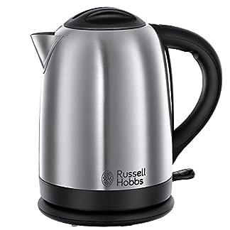 Russell-Hobbs-Oxford-20090-70-Wasserkocher-mit-Schnellkochfunktion-24-kW-silber-schwarz