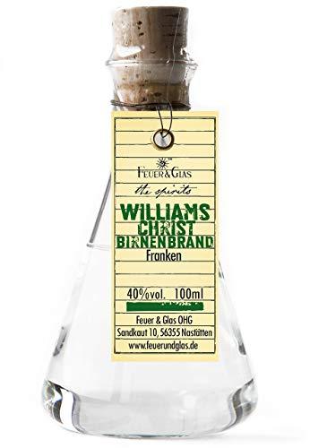 Preisvergleich Produktbild Feuer & Glas Williams Christ Birnenbrand 40% vol. 100ml im Erlenmeyerkolben