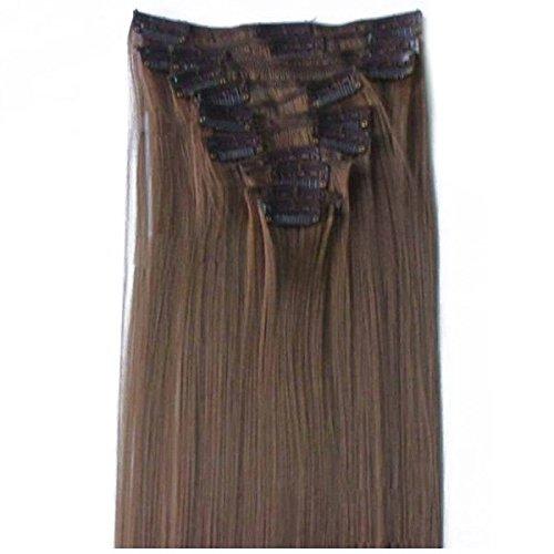 extensions de cheveux de Tressage - TOOGOO(R) 12 PCS nouveau mode cheveux de tressage extensions de cheveux ensembles doux cosmetiques # 6 brun clair