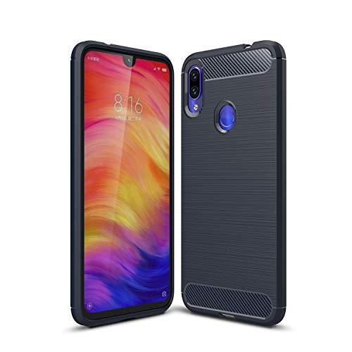 KISCO per Xiaomi Mi 9T/Redmi K20 Custodia,Ultra Slim Flexible Soft Carbon Fiber,Defender Shockproof Protective Case per Xiaomi Mi 9T/Redmi K20 Case-Blu