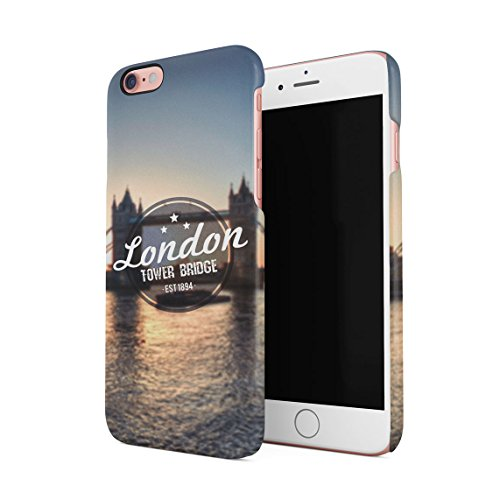 London Great Britain England Flag Custodia Posteriore Sottile In Plastica Rigida Cover Per iPhone 7 Plus & iPhone 8 Plus Slim Fit Hard Case Cover Tower Bridge