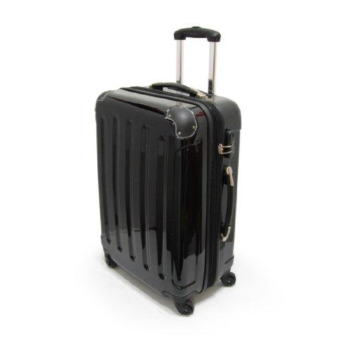 Hartschalen-Trolley, Koffer, 57cm, 50 Liter, Bordcase, 100% Polycarbonat, Farbe Schwarz, von Xavion