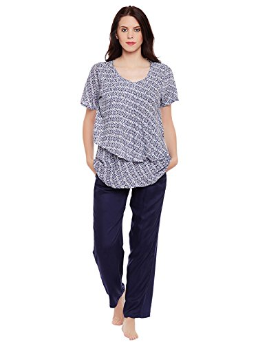 Clovia Women Printed Maternity Top & Pyjama Set