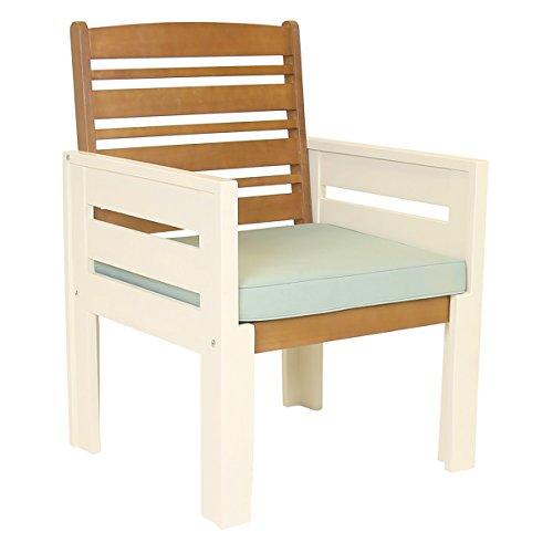 Charles Bentley Garden Kingston Arm Chair - Inc premium 7cm Cushion - FSC Hardwood - Cream